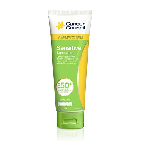 Cancer Council Australia Sensitive Sunscreen SPF50+ 110 ml. (2 - Cancer Australia Shop Council