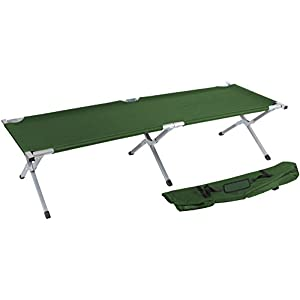 Trademark Innovations 75″ Portable Folding Camping Bed & Cot – 260 lbs.