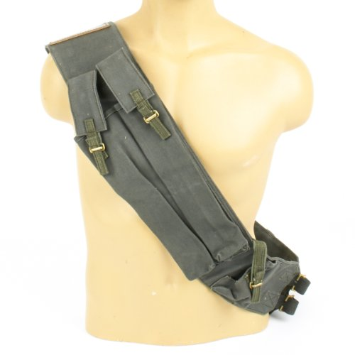 British WWII Sten and Lanchester Canvas Magazine Bandolier (British Bandolier compare prices)