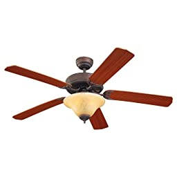 Monte Carlo 5HS52RBS-L, Homeowner Deluxe Ceiling Fan with Light,52\