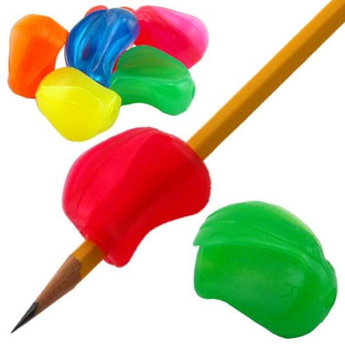 Pencil Grip Crossover Grip Ergonomic Writing Aid, For Right or Left Handed Users, Assorted Neon Colors, Bag of 100 (TPG-180100) by The Pencil Grip