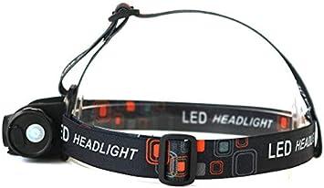 Linterna frontal mini con sensor de infrarrojos, luz LED de ...