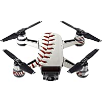 Skin For DJI Spark Mini Drone – Baseball | MightySkins Protective, Durable, and Unique Vinyl Decal wrap cover | Easy To Apply, Remove, and Change Styles | Made in the USA