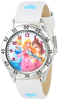 Disney Kids' PN1172 Princess Watch with White Band from Accutime Watch Corp.