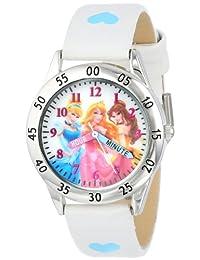 Disney PN1172 Princess - Reloj con correa blanca, para niños