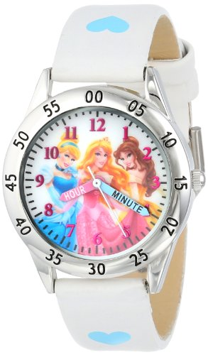 Price comparison product image Disney Kids' PN1172 Princess Watch with White Band