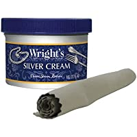 Wright's Silver Cleaner and Polish Cream - 237ml with Polishing Cloth - Ammonia-Free - Gently Clean and Remove Tarnish…
