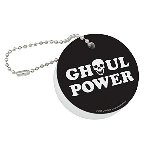 Graphics and More Ghoul Power Skull Girl Funny Humor Round Floating Foam Fishing Boat Buoy Key Float Keychain