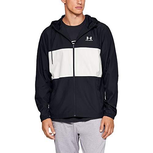 Under Armour Men's sportstyle Wind Jacket, Black//Onyx White, X-Large