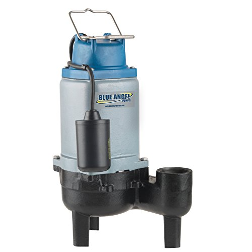 Blue Angel Pumps T40SW 4/10 HP 120V Commercial-Grade Submersible Sewage Pump by Blue Angel Pumps