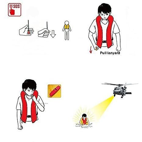 FLOATTOP Adult Manual Inflatable Life Jacket Life Vests 33 Gram Cylinder Inflatable PFD