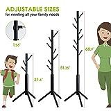 BMOSU Coat Rack freestanding Stand Bamboo Wooden