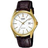 Casio MTP-1183Q-7A Men's Gold Analog Dress Watch w/Croc-Leather Band & Date