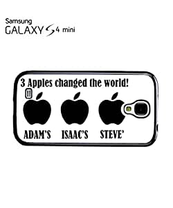 Three Apples Changed the World Cell Phone Case Samsung Galaxy S4 Mini White