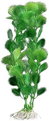 Laat planta acuática artificial Decoration para Acuario Pecera de peces, plástico, c, (environ) 21 x 4 cm/ 8