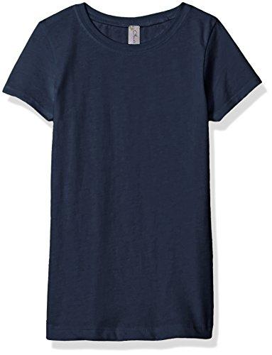 Clementine Apparel Little Girls' Everyday T-Shirt, Navy, (Vibrant Blue Apparel)