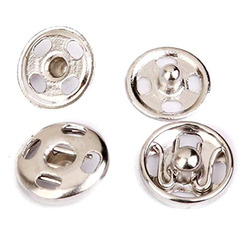 Phones & Accessories - Sew On Snaps Fasteners Button Poppers 10mm Pack Of Approx. 50 Sets Silver - Motorcycles Accessories Home Phones Weddings Toys Computers Girls Electronics Technology Cell H