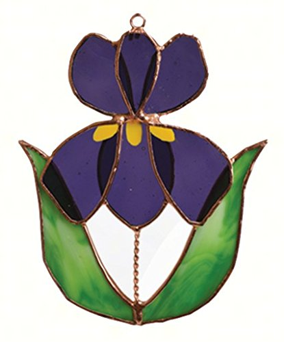 Handcrafted Stained Glass Suncatcher (Gift Essentials Iris Suncatcher)