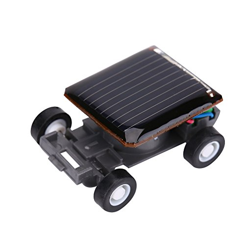 Dilwe Mini Solar Power Car, Smallest Solar Power Toy Car Racer for Kids Educational Playing - Solar Racer Mini