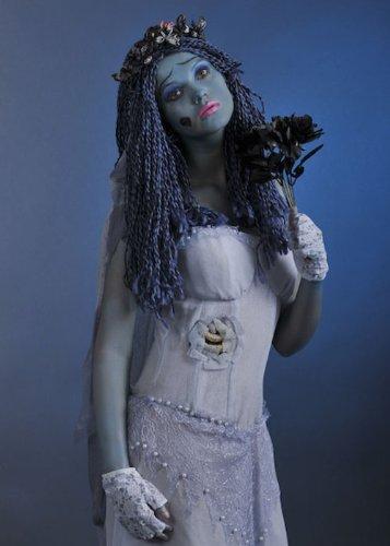 Talla de adulto disfraz peluca de novia cadáver: Amazon.es: Juguetes y juegos