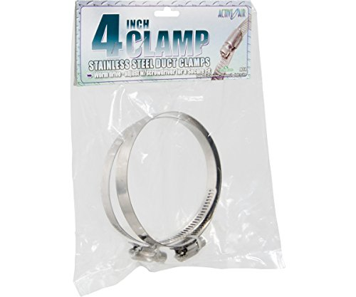 Hydrofarm Active Air Stainless Steel Duct Clamps, 4