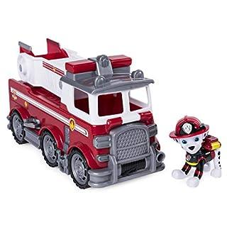 Paw Patrol Ultimate Rescue - Camión de bomberos de rescate Ultimate de Marshall con escalera móvil y cabina delantera abatible, para mayores de 3 años