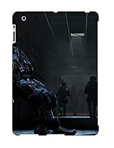Ipad 2/3/4 Case Cover - Slim Fit Tpu Protector Shock Absorbent Case (call Of Duty Ghosts)