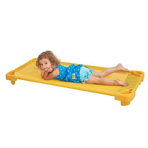 ECR4Kids Children's Naptime Cot, Stackable Daycare Sleeping Cot for Kids, Heavy-Duty, 52