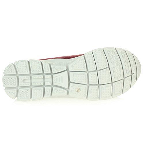 Bureau Semelle Rouge Mocassins Doux Chaussures Taille Glisser Sur Travail Flaneur Flexible Dames Confort Femmes De aXwS6q