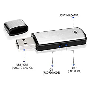 Amazon.com: Llavero USB Digital Voice Recorder: Home & Kitchen