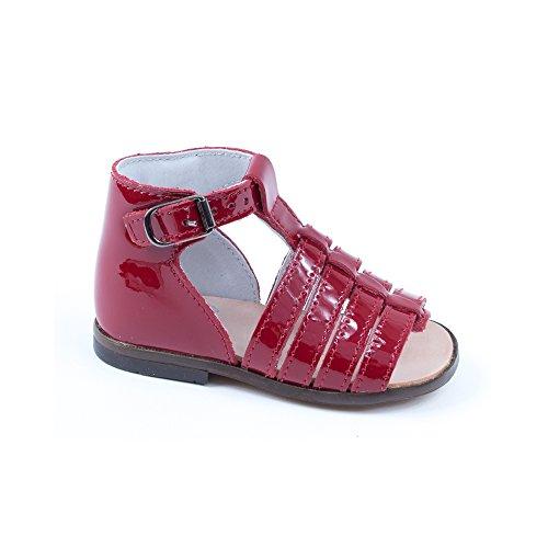 Sandales Rouge Pieds Little Fille et Nu Mary Rouge HOSMOSE YU4I5q