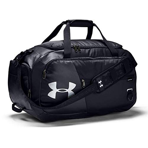 Under Armour Undeniable Duffle 4.0, Black (001)/Silver, Medium by Under Armour