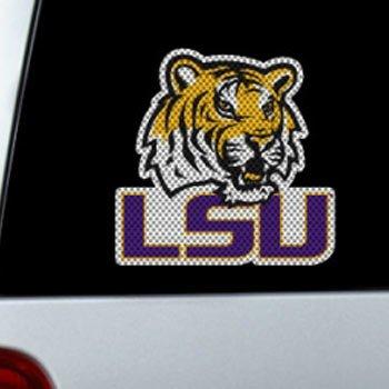 LSU Tigers Die-Cut Window Film - - Inch Window 10 Cut Die Film
