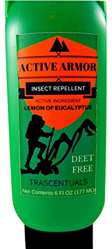Active Armor Insect Repellent Lotion for Camping Hiking and All Outdoor Activities Uses Lemon of Eucalyptus Essential Oil as Active Ingredient