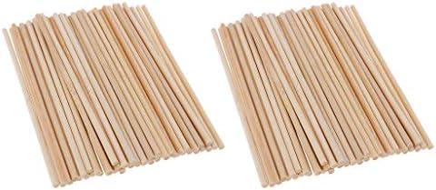 dailymall 150x4mmを作る子供の木製の技術モデルのための100x円形のタケ木の棒