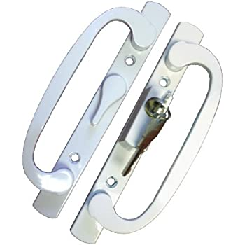 This Item PATIO DOOR HANDLE SET WHITE REPLACEMENT PD2000WHITE OFFSET