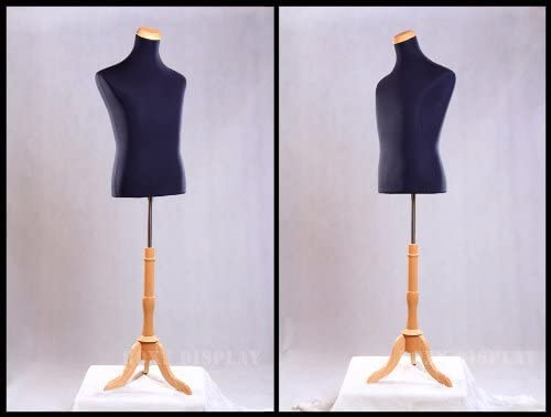 ROXYDISPLAY/™ Female Body Form with Tripod Natural Wood Base JF-F2//4L+BS-01NX