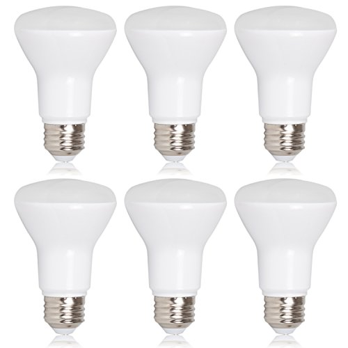 Maxxima LED BR20 50 Watt Equivalent Dimmable 7 Watt LED Warm White R20 600 Lumens, 3000K (Pack of 6)