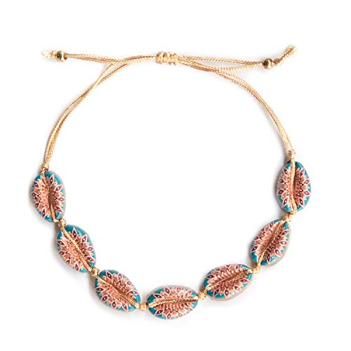 ATIMIGO Bohemian Rope Anklet Shell Bracelet Handmade Foot Chain Beach Jewelry for Women Teen Girls