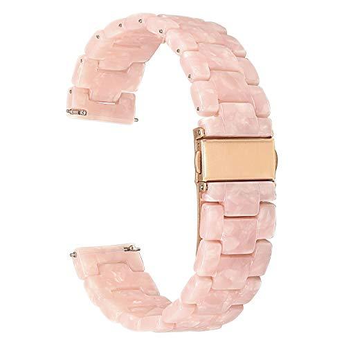 for Samsung Galaxy Watch 42mm / Gear S2 Classic Watchband, TRUMiRR 20mm Quick Release Resin Watch Band Stainless Steel Buckle Strap Wrist Bracelet for Gear Sport, Garmin Vivoactive 3, Ticwatch 2/E