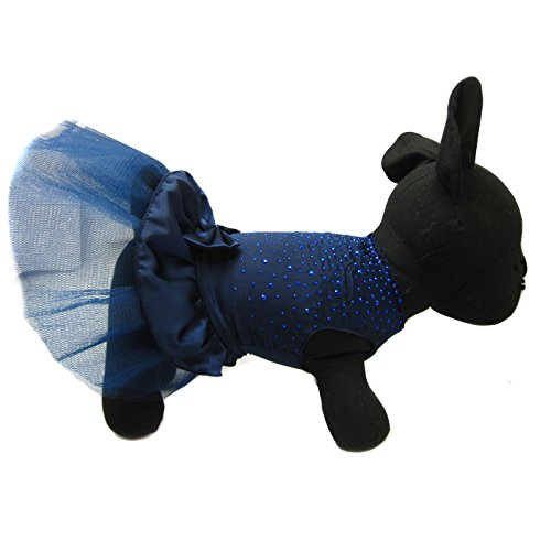Alfie Pet by Petoga Couture - Shirley Tutu Party Dress - Color: Navy, Size: Small by Alfie (Image #6)
