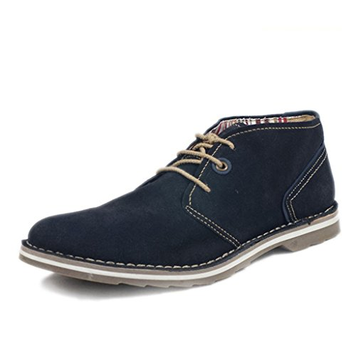 UK.GREIFF Mens Oil Suede Leather Lace up Oxfords Shoes Navy 58VHrOV