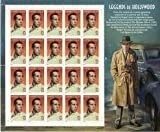 Humphrey Bogart, Legends of Hollywood, Full Sheet of 20 x 32-Cent Postage Stamps, USA 1997,  Scott 3152