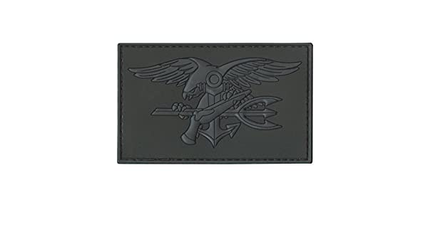 US navy seals DEVGRU insignia PVC 3D blackout ACU emblema hook/&loop patch
