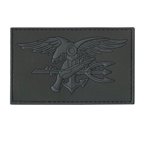 LEGEEON Blackout ACU US Navy Seals DEVGRU Insignia Morale NSWDG USSOCOM PVC 3D Hook&Loop Patch ()