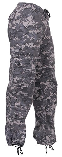 (New Women's Girls Vintage Paratrooper Tactical BDU Fatigue Pants 8 Colors)