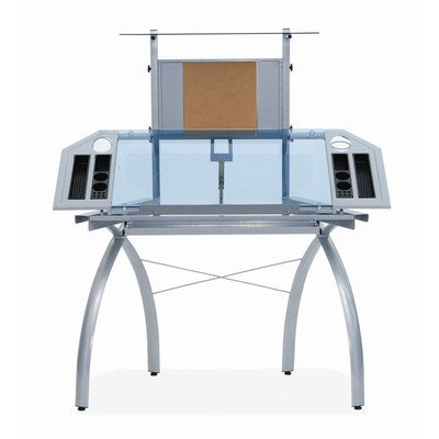 Studio Designs Glass Top Futura Tower Drafting Station