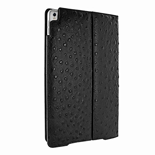 Piel Frama 789 Black Ostrich Cinema Magnetic Leather Case for Apple iPad Pro 12.9'' (2017) by Piel Frama