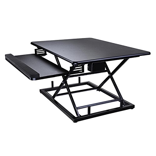 Koval Inc. Height Adjustable Electric Motorized Computer Sit-to-Stand Desk (Black) by KOVAL INC. (Image #2)