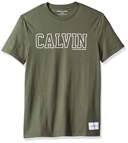 - Calvin Klein Jeans Men's Athletic Logo T-Shirt, Vertigo, X-Large